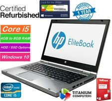 "HP EliteBook 8470p 14 "" Core i5 2.6GHz up to 16GB RAM, 1TB HDD, SSD Windows 10"