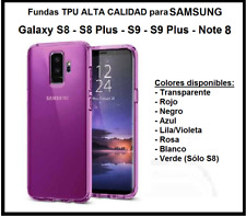 Funda TPU alta calidad 1,2mm Samsung Galaxy S8 S8 Plus S8+ S9 S9 Plus S9+ Note 8