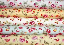 Rose and Hubble Small Flower 100% Floral Cotton Fabric Postage Included
