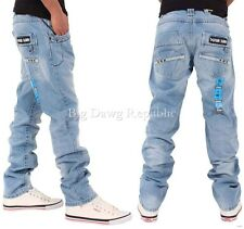Peviani Hombre Niño cantly Azul Corte Recto Star Jeans Hip Hop G Is Time Money