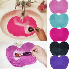 Silicone Makeup Brush Cleaner Cleaning Cosmetic Scrubber Board Mat Pad Tool WD