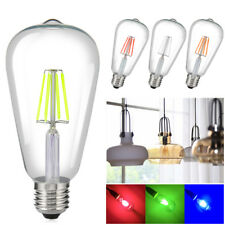 E27 ST64 Vintage Edison Light Colorful Bulb COB LED Filament Lamp 8W 85-265V 0A