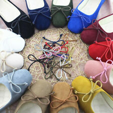 Fashion Women Flats Slippers Lady Soft Bow Nurse Working Microsuede Casual Shoes