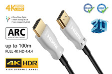 Extra Long HDMI Cable   4K @ 60Hz 2160p 4:4:4 HDR ARC HD UHD 3D PS4 Xbox TV PC