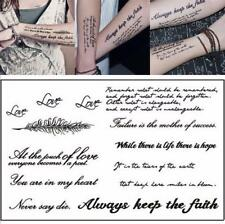 Body Tattoo Sticker Lovely English Words Make Temporary Tattoos Paper Fake Tatoo
