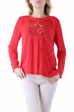 GR 76643 Rojo blusa mujer olivia hops blusa made in italy: botones mangas lu