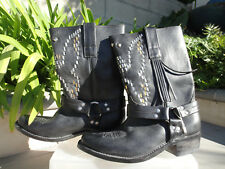 Golden Goose Deluxe Brand MARKET Moto Distressed Leather Boots Italy,  EUR37