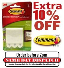 3M Velcro Command Adhesive Strips Damage Free Picture/Frame Hanging