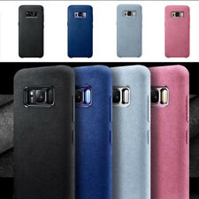 Alcantara Shockproof Suede Leather Case Cover For Samsung Galaxy S9 S8 Note8 UK