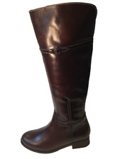 Size 5 Only - Yaku's 502 Spanish Brown Leather Knee High Boots