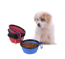 Pet Dog Puppy Cat Bowls Silica gel Collapsible Pets Bowl Folded Travel Kitten