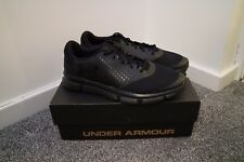 BNIB UNDER ARMOUR MICRO G SPEED SWIFT BLACK TRAINERS SIZE 8.5