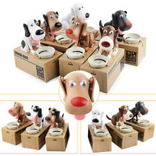 Hungry Eating Dog Money Box Money Bank Automatic Stole Coin Saving Box Gifts New