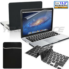 """4 in 1 Bundle Soft-Touch Frosted Hard Case w/Sleeve Bag 13"""" Macbook / Pro"""