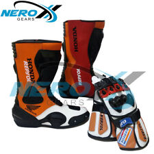 Honda Repsol Motorbike Shoes and Gloves Racing Pro-Biker Motorcycle Cross Moto G