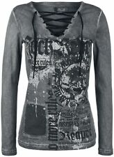 Rock Rebel by EMP Stay Manica lunga donna grigio