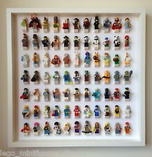 Lego Frame, Large WHITE Display Case for Lego Minifigures. Holds 77 Minifigs