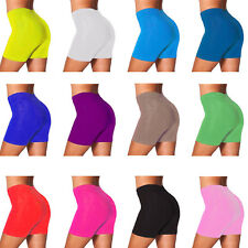 WOMENS CYCLING SHORTS DANCING SHORTS LADIES  LYCRA LEGGINGS ACTIVE CASUAL SHORTS