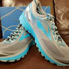 BRAND NEW IN BOX! BROOKS GHOST 10 WOMENS RUNNING SHOES GRAY BLUE SILVER 038