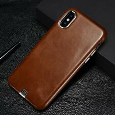 Luxury Vintage Genuine Leather Case For Apple iPhone X Ultra Thin Back Cover Met
