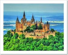 Hohenzollern Castle In The Swabian Art Print Home Decor Wall Art Poster - H
