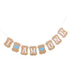 I AM ONE Paper Bunting Banner Garlands Baby Shower 1 ° festa di compleanno
