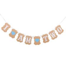 I AM TWO Paper Bunting Banner Garlands Baby Shower 2 ° festa di compleanno