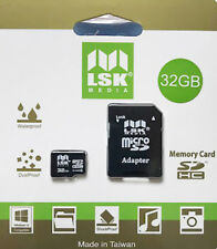 MicroSD 32Gb with SD Adapter High Capacity Memory for Cameras and Phones