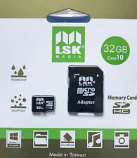 MicroSD 32Gb with SD Adapter High Capacity Memory for Cameras and Phones Class10