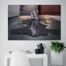 Canvas Wall Art Pictures 1 Panel/Pcs Cat And Tiger Painting Home Decor HD