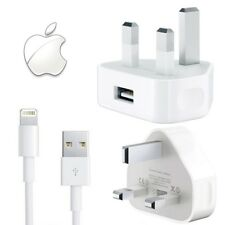 Genuine USB Data Cable / Wall Plug Charger for Apple iPhone X 8 7 6 Plus 6S iPad