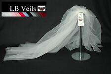 Crystal Veil Wedding Cathedral Length Ivory  2 Tier Long Sparkle LBV151 LB Veils