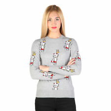 BD 74820 Gris Moschino Suéter Moschino Mujer En Gris 74820 Camisetas mujer