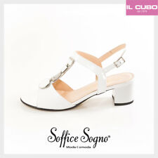 SOFFICE SOGNO SANDALO DONNA COLORE BIANCO TACCO H 4,5   SHOES MADE IN ITALY