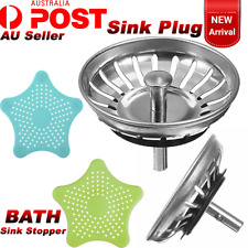 Bathroom Drain Hair Catcher And Stainless Steel Kitchen Sink Strainer Waste Plug