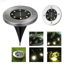 A84F 8LED Disk Lights Solar Powered LED Outdoor Lights, As Seen on 4 PACK