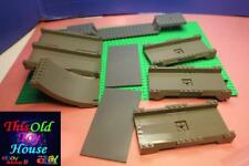 LEGO BRICKS ACCESSORIES OLD DARK GREY CHOICE OF RAMPS/PLATFORMS pre-owned