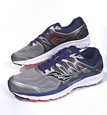 Mens Saucony Omni 16 Grey/Navy Stability Running Shoes Size 11.5 (New)