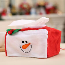 0FB0 Christmas Tissue Box Case Santa Snowman Xmas Party Paper Holder Supplies