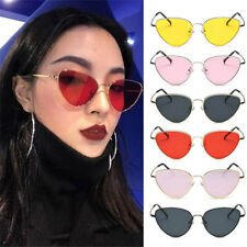 2F62 Women Sunglasses Lens Oval Frame Cat Eye Oversized Fashion Style Anti-UV