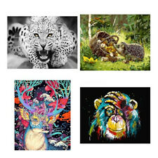 Animals Oil paintings Linen Hand Painted By Numbers Oil Painting DIY Home Decor