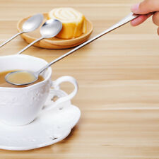 Stainless Long Handle Coffee Lattes Spoon Ice Cream Tea Soup Spoons Flatware