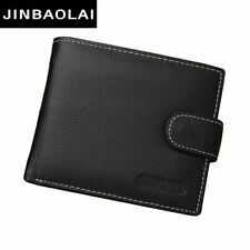 Genuine Leather Men Wallet with Coin Pocket Purse Card Holder Bifold Male
