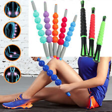 Yoga Trigger Point Gear Muscle Therapy Stick Roller Spiky Ball Massage Rolling R
