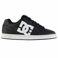 DC Serial Graffik Skate Shoes Mens Black/White Skateboarding Trainers Sneakers