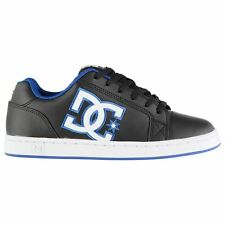 DC Serial Graffik Skate Shoes Mens Black/Blue Skateboarding Trainers Sneakers