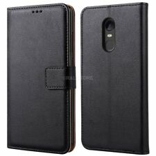 COVER per Xiaomi Redmi 5 Plus CUSTODIA PORTAFOGLIO in PELLE Nero Leather CASE