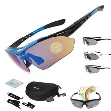 RockBros Polarized Cycling Glasses Eyewear Bike Goggles Fish Sunglasses 5 Lenses