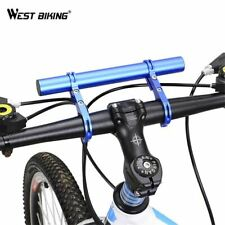 Bicycle Light Holder Handlebar Extender Cycling Bike Frame Double Extension Moun