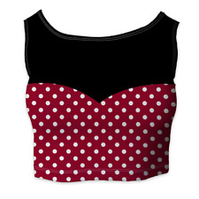 Minnie Rock The Dots Disney Inspired Sleeveless Crop Top - Sleeveless XS - 5XL